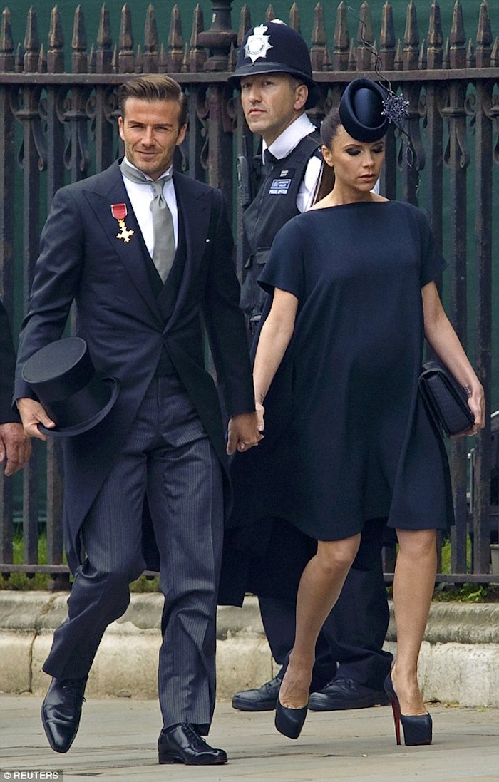 david beckham en smoking homme mariage princier
