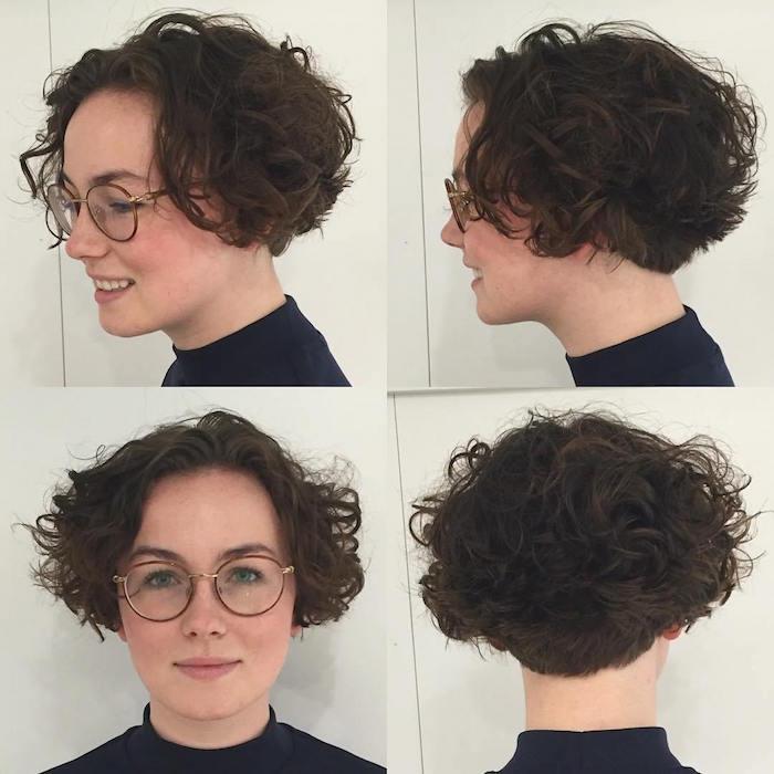 cheveux courts boucles coupe mi long bouclé