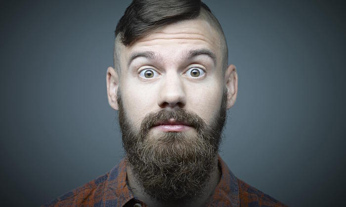 barbe hypster en pointe style hipster homme