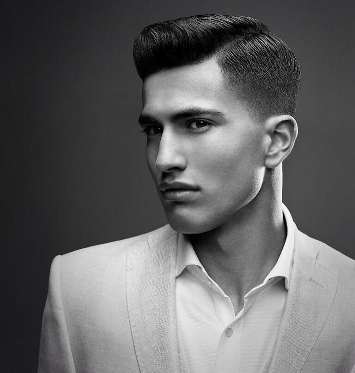 coupe de cheveux homme pompadour degradé progressif