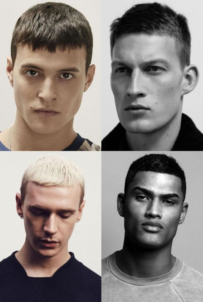 la coupe de cheveux homme court tendance pour l'automne et l'hiver, coupe homme avec une frange courte droite