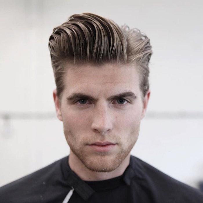 coupe degradee homme coiffure dégradé mode pompadour