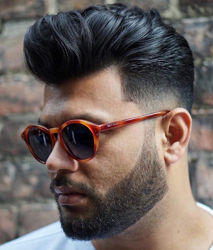 coupe cheveux homme court coté long dessus dégradé fondu