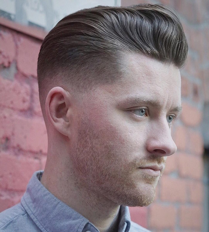 coupe de cheveux homme mi long en arriere dégradé homme