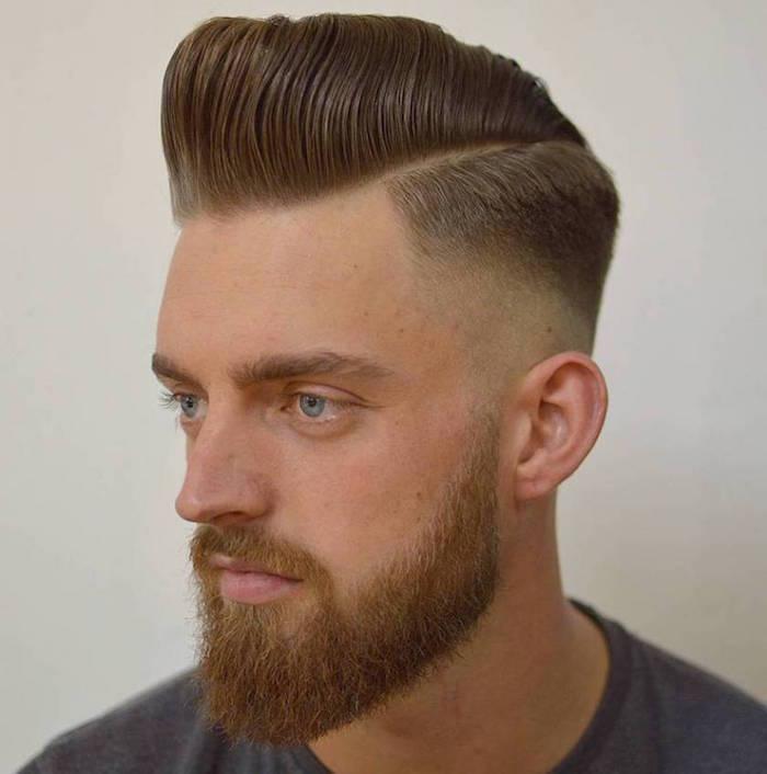 coiffure homme année 50 pompadour haircut dégradé fondu