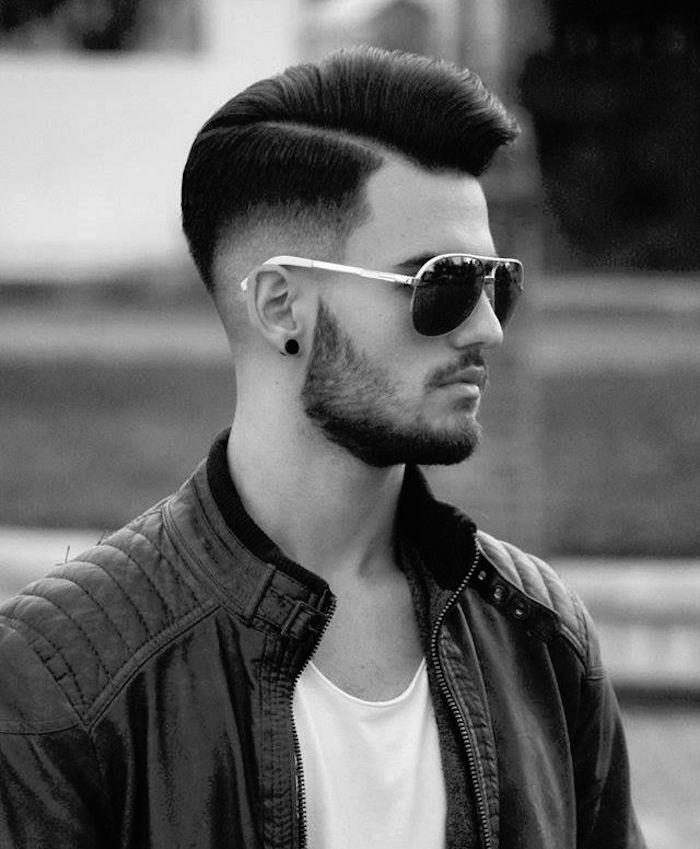coupe de cheveux dégradé bas homme années 50 rétro coiffure pompadour