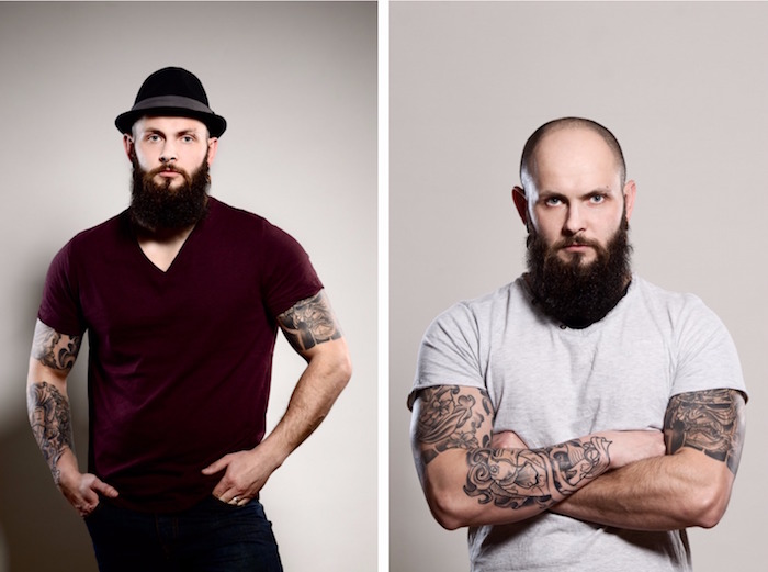 comment avoir une grosse barbe et Crâne rasé barbe visage rond chauve et barbu