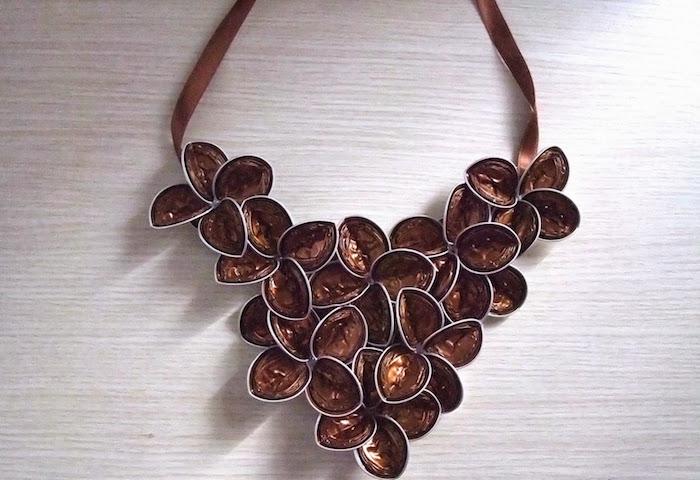 bijoux fait avec capsules nespresso fabriquer collier