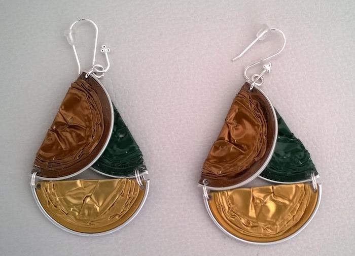 boucle d oreille capsule nespresso recyclage capsules bijoux diy