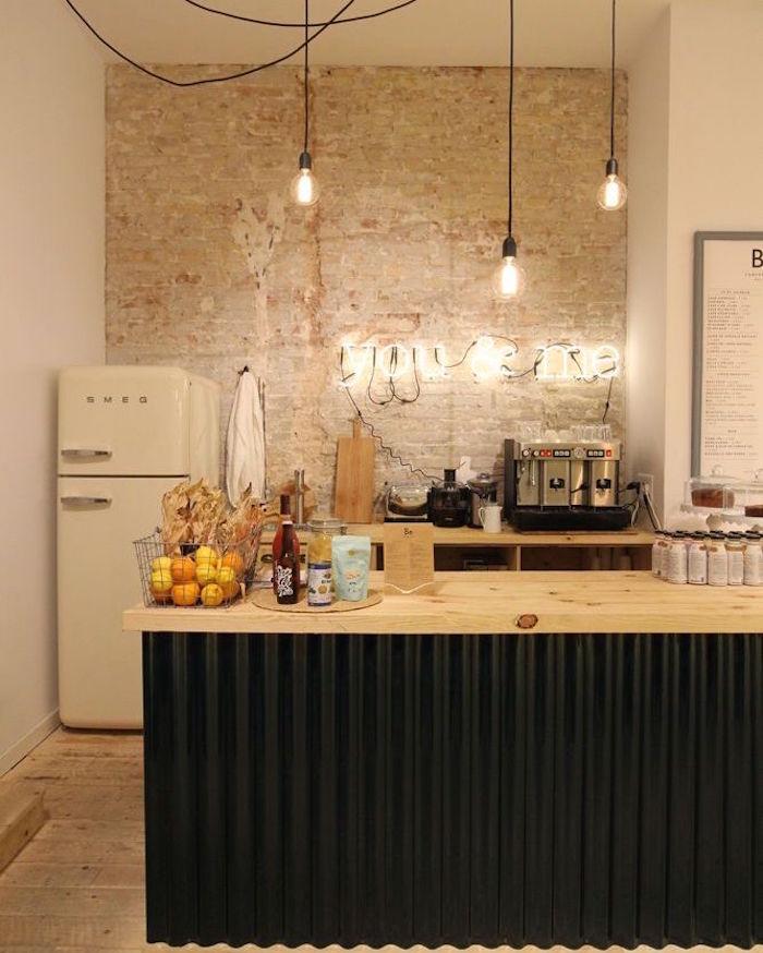 modele de cuisine americaine ouverte design style retro rustique