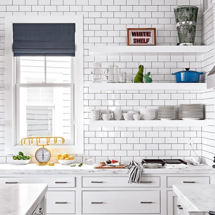 1001 idees pour amenager une cuisine campagne chic charmante for Kitchen colors with white cabinets with plier papier