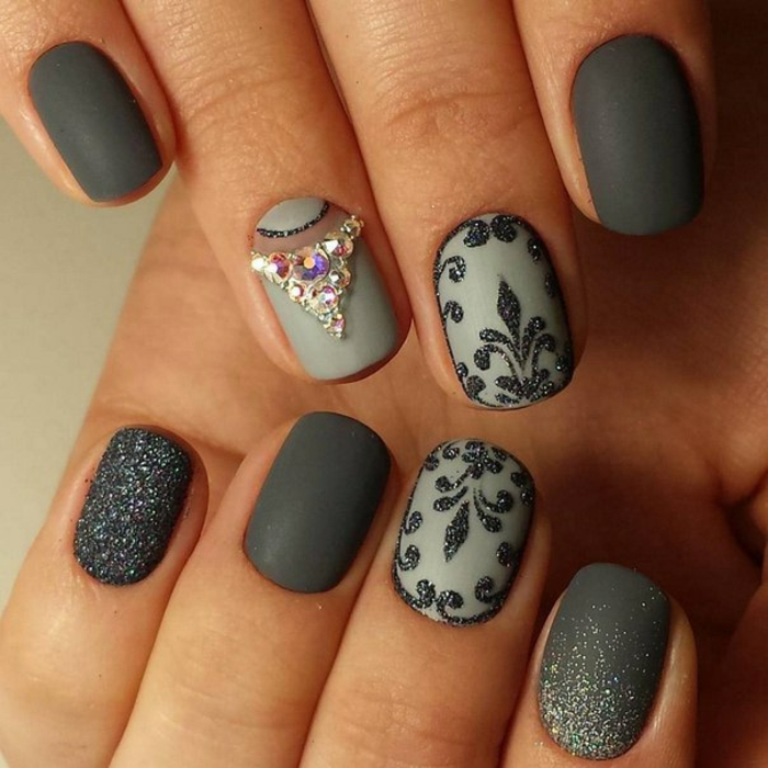 Matte top coat nail art matte and shiny nails design brillant et matte manucure quelle combinaison vernis beaux ongles