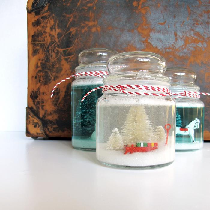 activités manuelles noel faciles et rapides pour transformer des bonbonnières vintage en jolies boules à neige