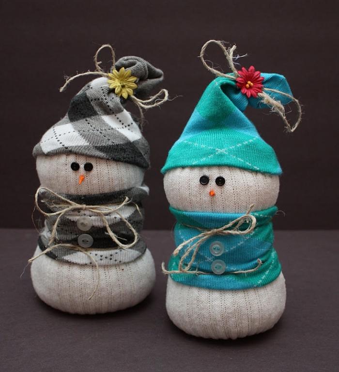 comment faire un bonhomme de neige, activité manuelle pour les enfants, fabriquer un bonhomme de neige