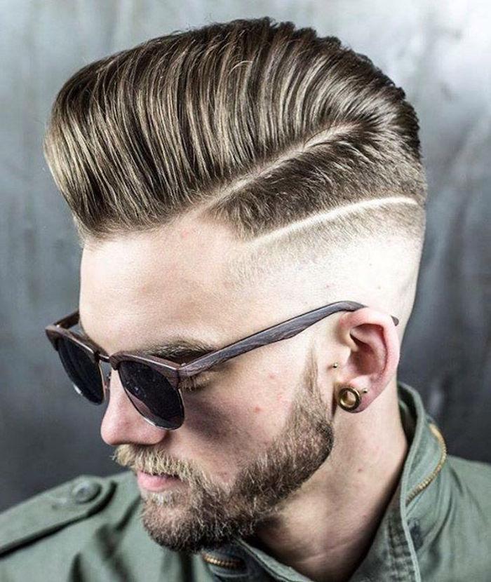 coupe de cheveux homme coiffure mode vintage