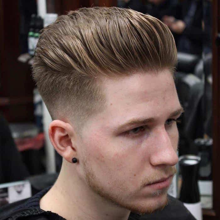 coiffure dégradé homme coupe degrade en arriere