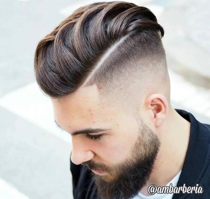 coupe cheveux beckham dégradé homme a blanc