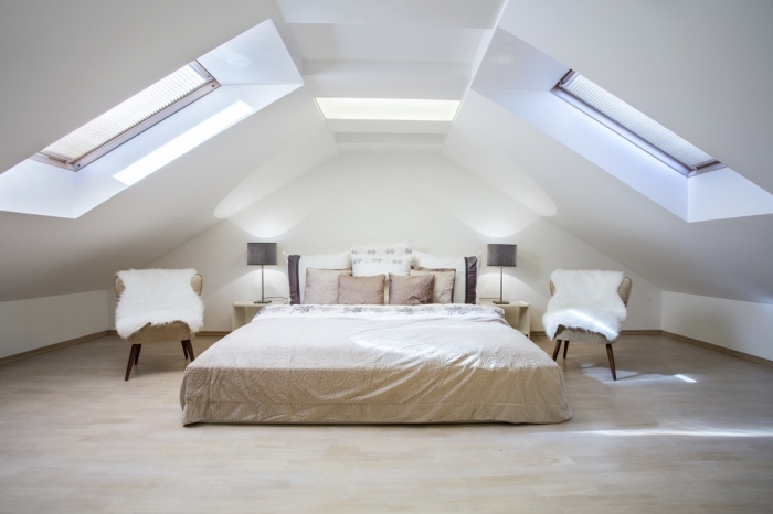 Chambre Cocooning Dans Les Combles : Chambre cocooning dans les combles simple amenager une