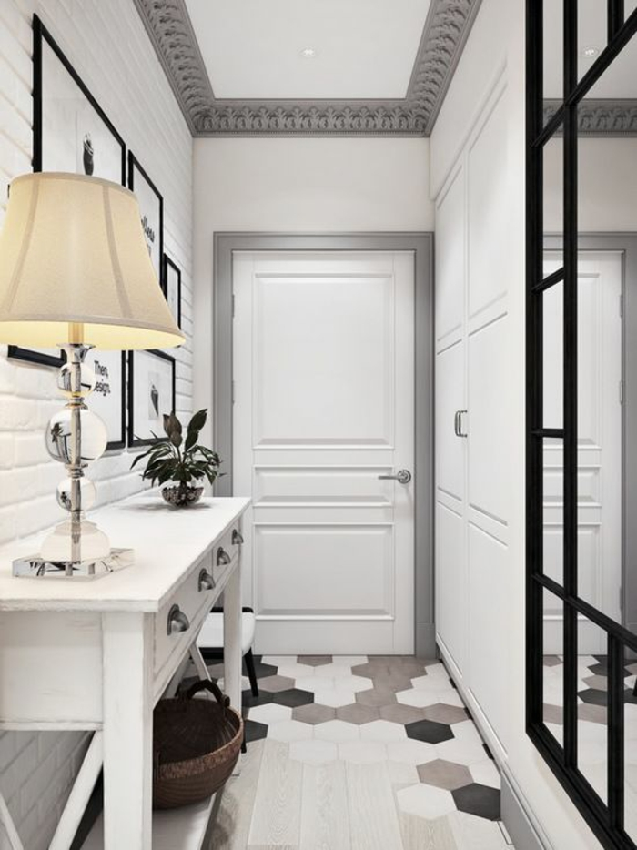 Best deco couloir noir et blanc images design trends for Decoration hall et couloir