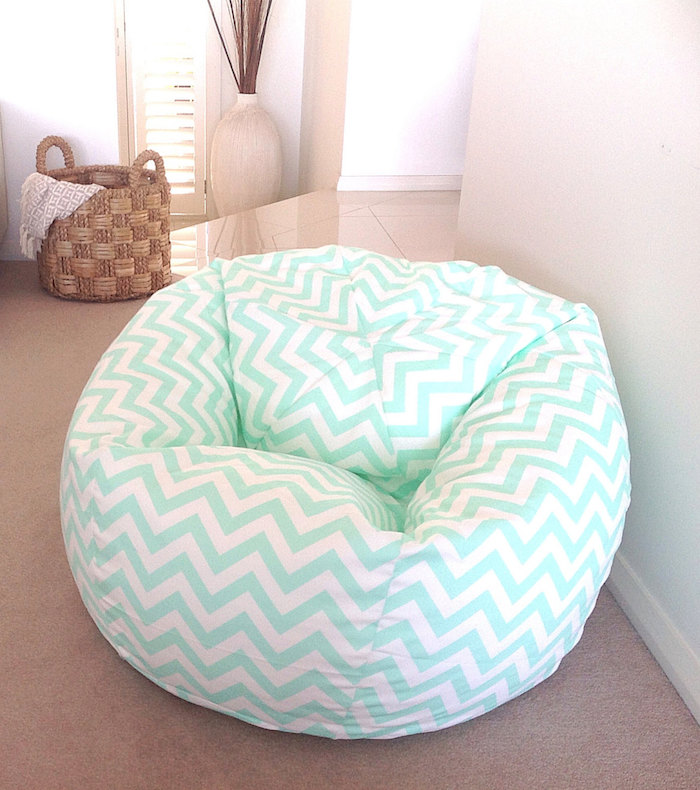 décoration meuble couleur design pouf vert turquoise