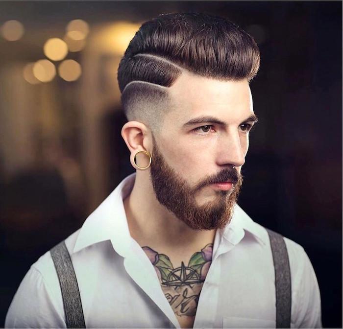 coupe de cheveux mi long homme coiffure américaine pomp dégradé