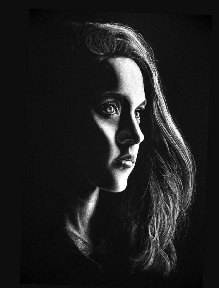 Dessin réaliste noir et blanc comment dessiner en noir et blanc style