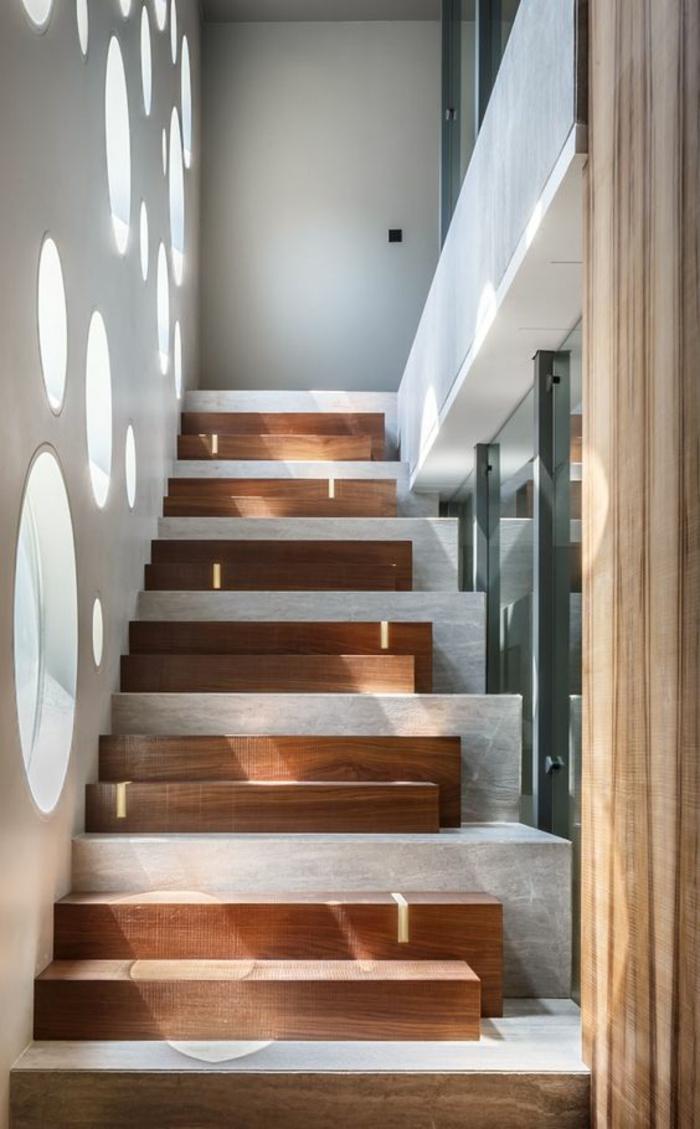 Escalier Bois Entre Deux Murs ▷ 1001+ idées pour un escalier design + les intérieurs