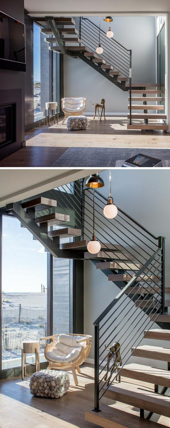 Escalier Dans Un Salon ▷ 1001+ idées pour un escalier design + les intérieurs