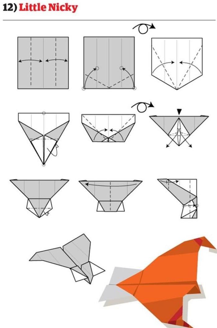 comment fabriquer un avion en papier de modèle le petit nicky au design original