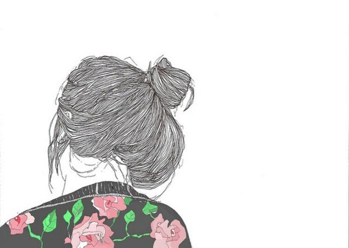 Le dessin crayon noir et blanc rouge et vert pour détails dessin couple noir et blanc chouette fille