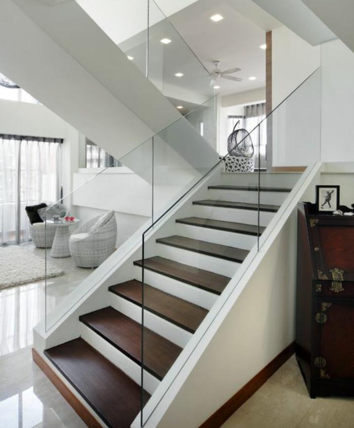 Escalier Bois Peint. Trendy Escalier Droit En Acier Peint Limon