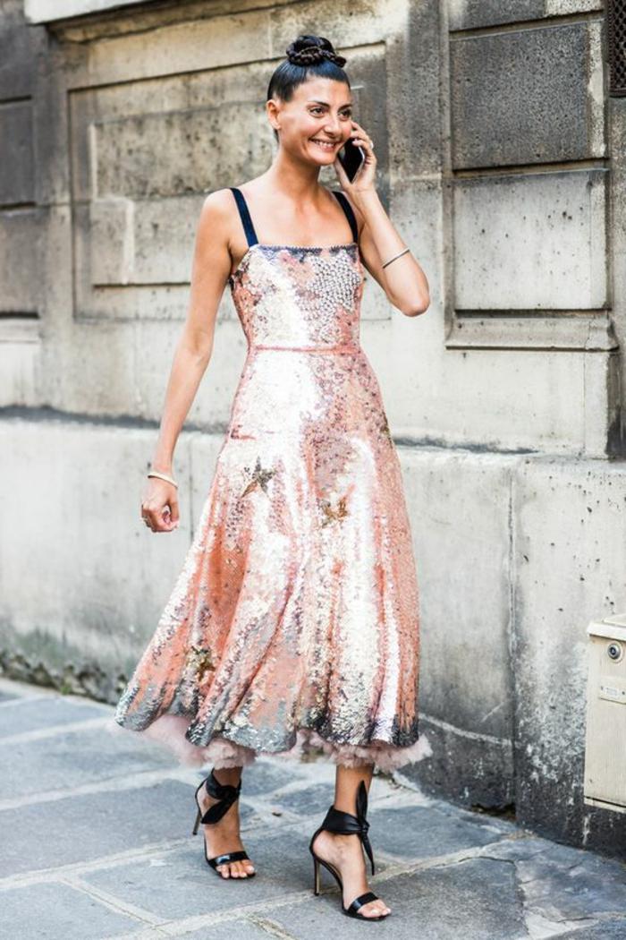 Tendance robe de bal dorée robe dorée longue photo tenue robe adorable robe rose dorée