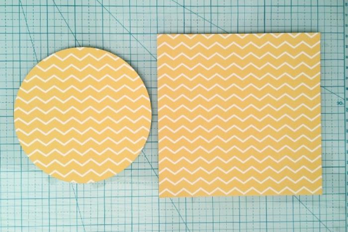 loisir creatif, étapes à suivre pour réaliser une décoration de fête facile en papier à design géométrique