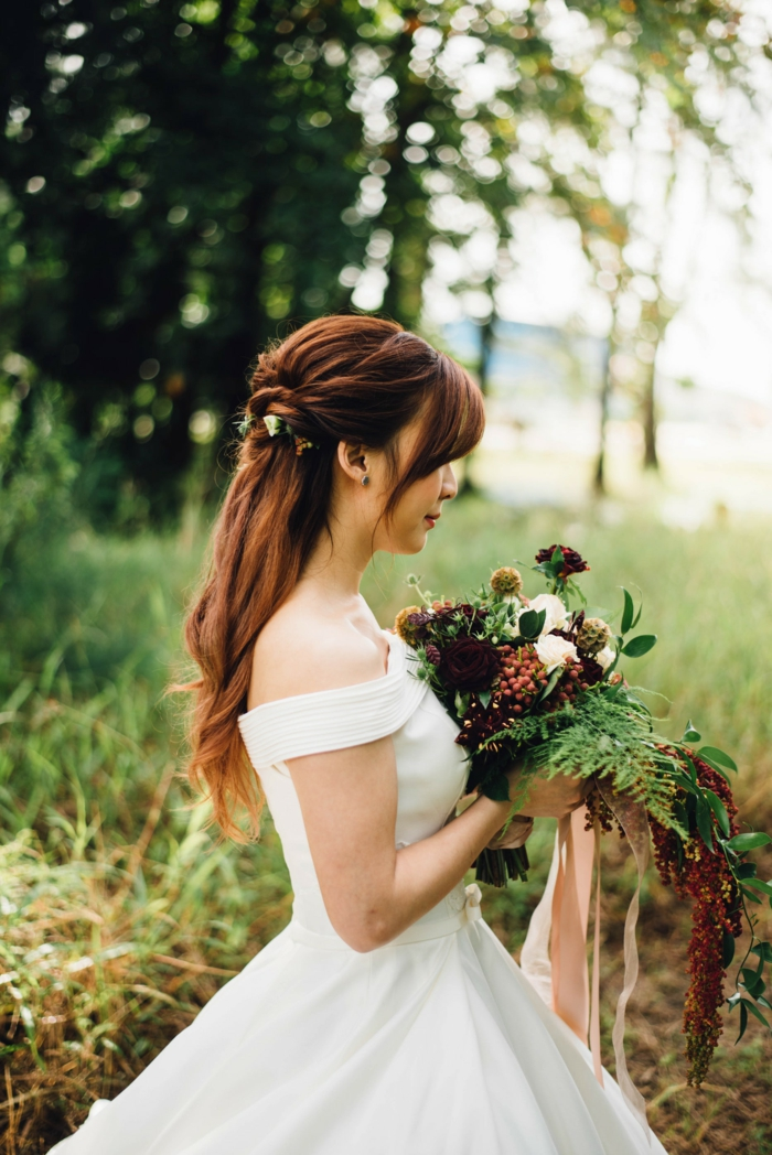 Coiffure boucle mariage coiffure mariage cheveux longs bouclés longue cheveux