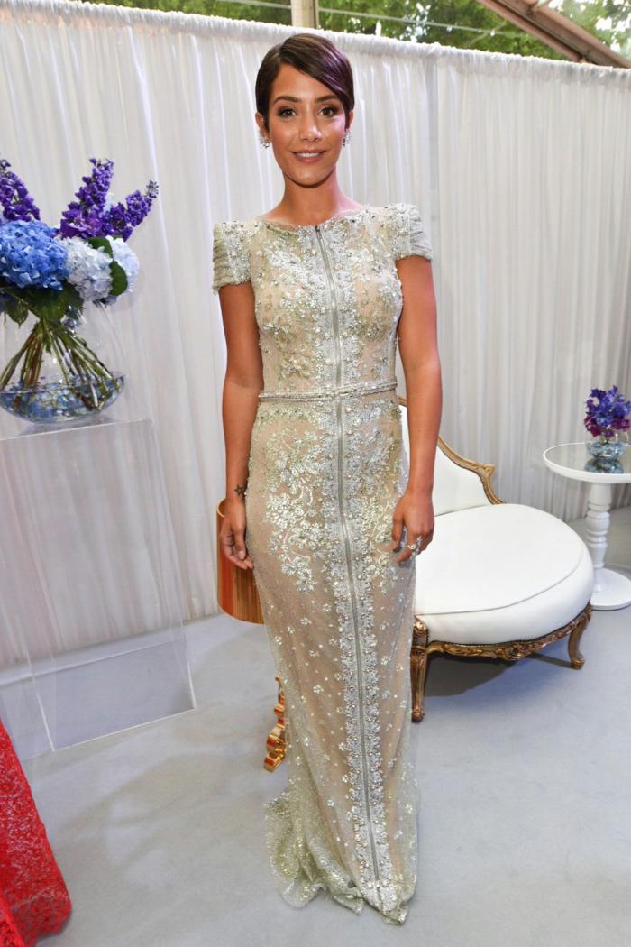La robe dorée robe de mariée dorée mariage invitée idée tenue moderne