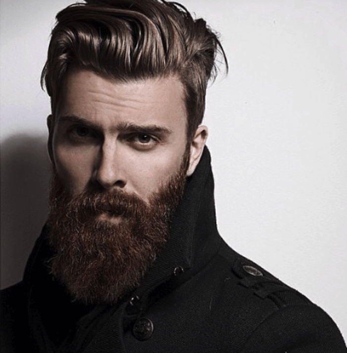 barbe homme tendance taillée model man