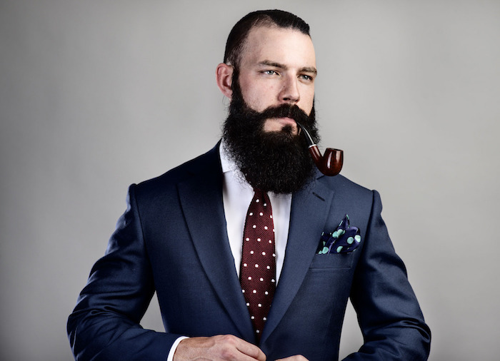 barbe longue entretien style hipster