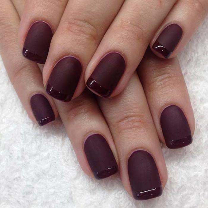 Déco ongles vernis effet mat nail arts décoratif ongle rouge french originale