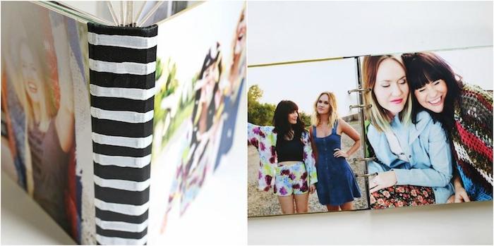 idées cadeaux noel femme, un albun photo avec des photographie de meilleures amies, idée de cadeau meilleure amie