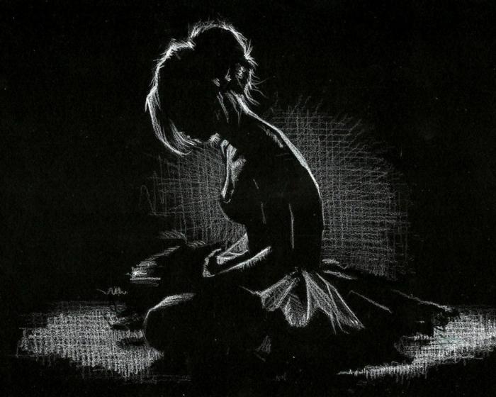 Dessin de femme danseuse ballet noir papier blanc crayon dessin en noir et blanc chouette dessin noir et blanc technique