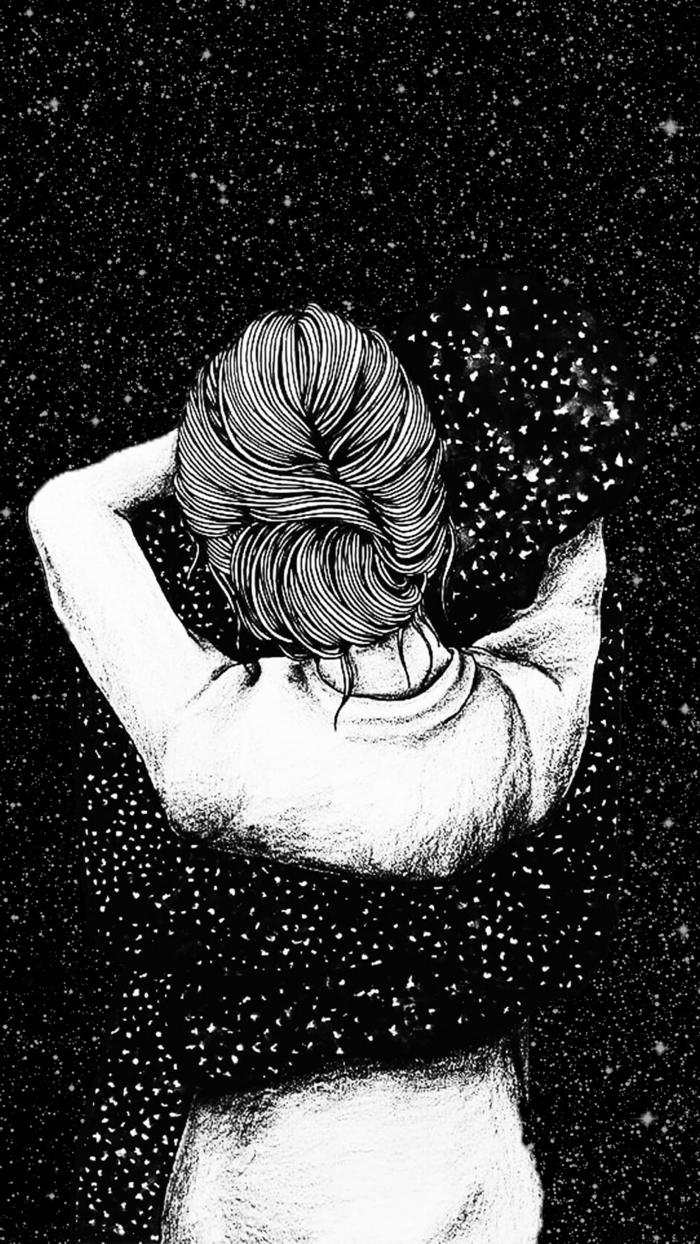 Photo dessin filtre dessin dessin noir et blanc visage photo dessin joli magnifique idée