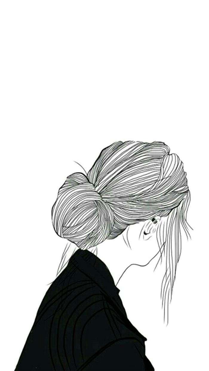 Femme idée art dessin fille noir et blanc les dessins noir et blanc