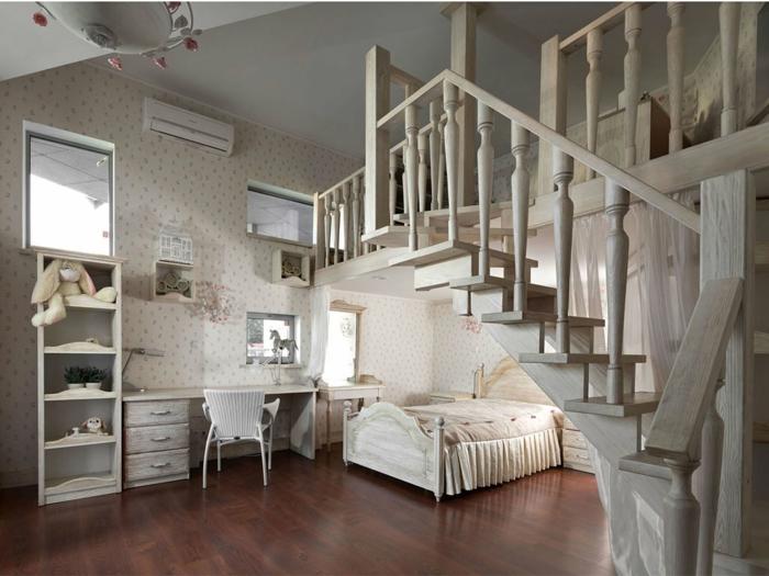 ljolie chambre à coucher avec un intérieur traditionnel en blanc, papier peint clair