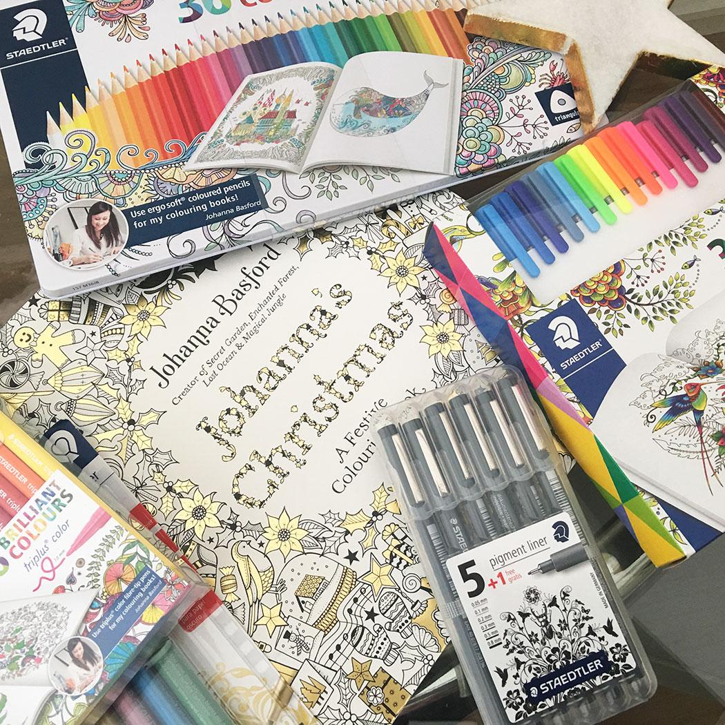 cadeau de noel pour ado, un livre de coloriage pour ados ou adultes, avec des stylos et crayons en couleur pour les esprits artistiques