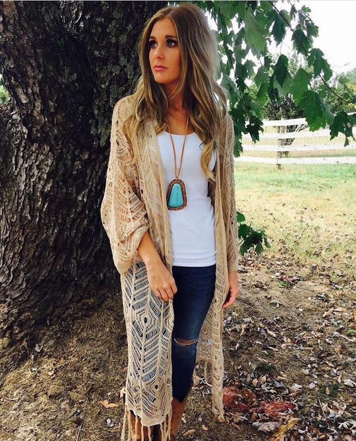 tenue boheme chic style hippie bobo chandail