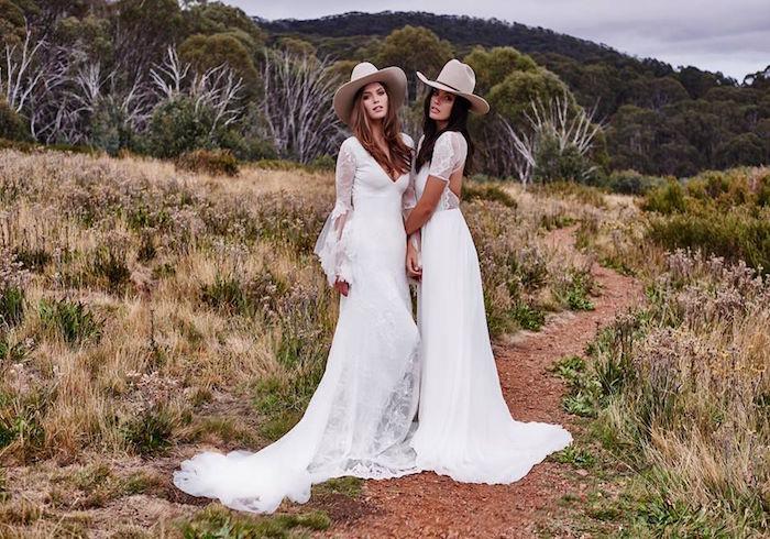 robe de mariée champetre boheme chic mariage campagne