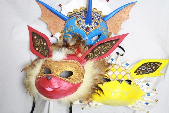 loisir créatif pour les enfants, fabrication masque de carnaval à inspiration animal, masque de fête pour enfant