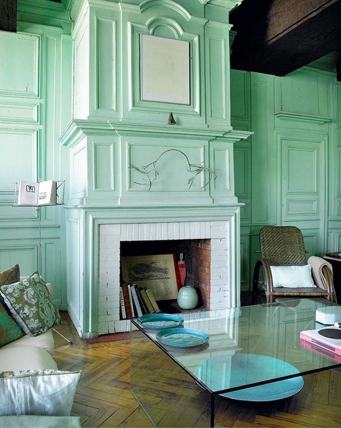 peindre salon couleur claire pale vert