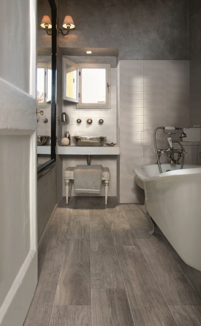 Perfect Salle De Bain Carrelage Parquet