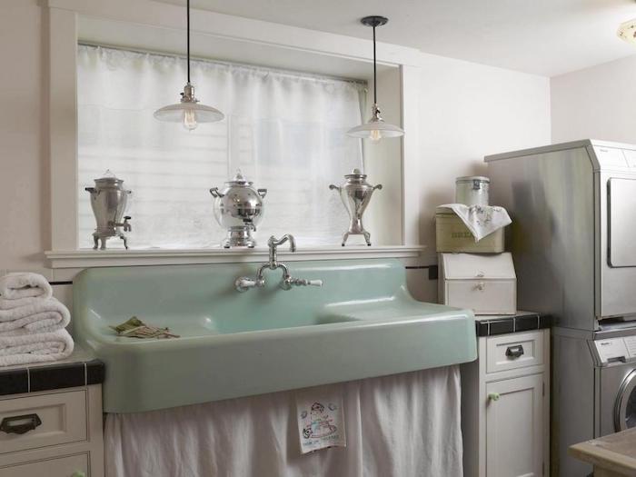peindre lavabo vintage couleur retro